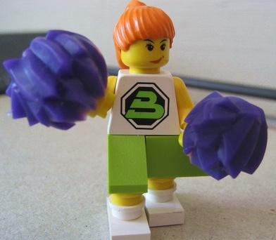 lego cheerleader custom minifig