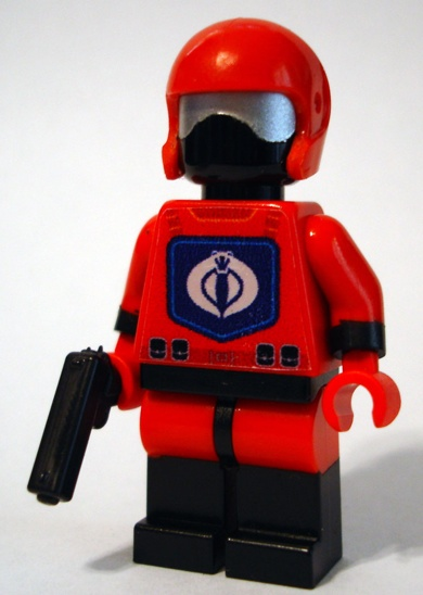 lego cobra custom minifig by verycherry