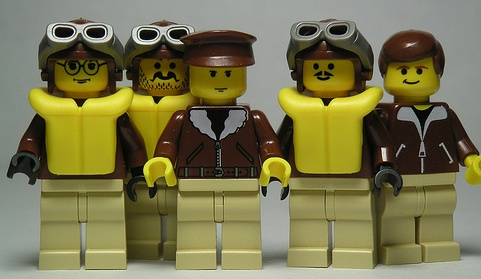 lego custom minifig crew of the bettys kiss by dunechaser