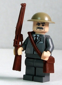 lego dads army WWII custom minifig by dunechaser