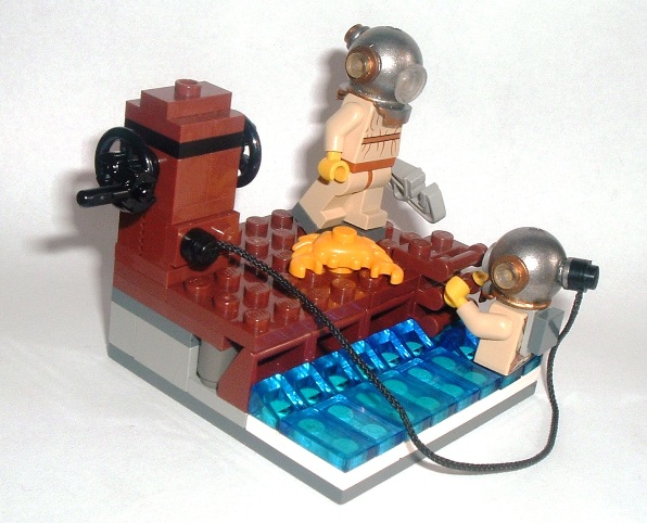 lego diver custom minifigs vignette by simon jackson