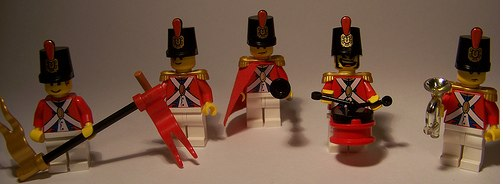 lego marching band custom minifigs by muffinmanifestation