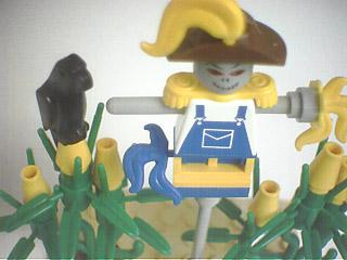 Lego scarecrow custom minifig