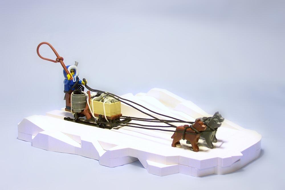 Lego Sledge vignette custom minifig