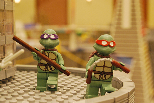 Lego teenage mutant ninja turtles custom minifigs by Fine Clonier
