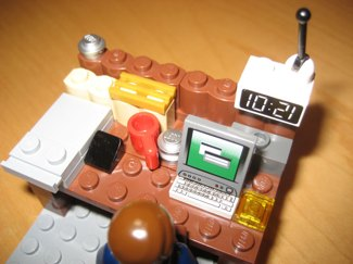 Cool Lego minifig workdesk