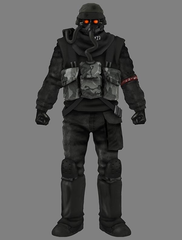 Helghast, Jin-Roh, custom, minifig, Kubrick, lego, army, military1