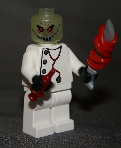 scary customm minifig lego doctor by cartoondude