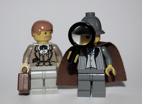 Sherlock Holmes and Dr. Watson by minifig