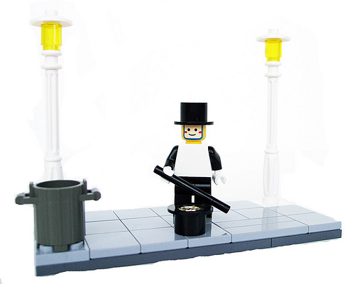 Lego Street Performing Mime custom minifig