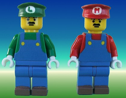 super mario bro custom minifig by cyberlizard
