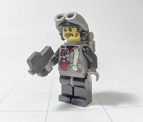 Lego custom minifig P90 weapon