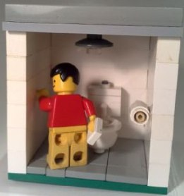 custom minifig toilet by Richard brown