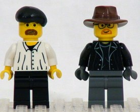 Myth Busters Jamie and Adam custom minifig by shmails