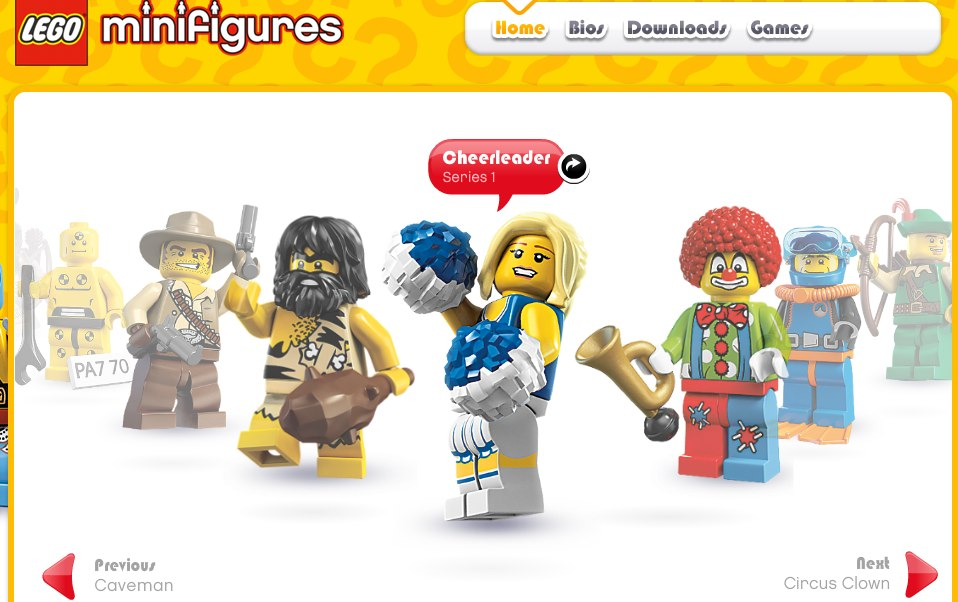 lego minifig site
