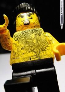tattooed lego custom minifig yakuza