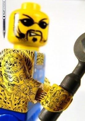 minifigure tattooed lego