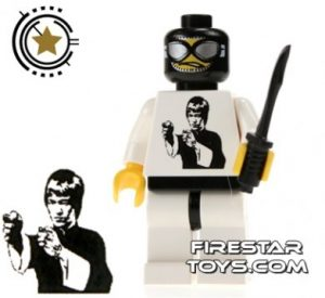 custom lego minifigure bruce lee