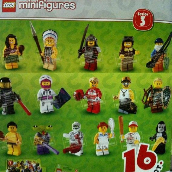Lego minifig collectors series 3