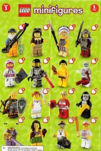 lego minifig collectors sheet