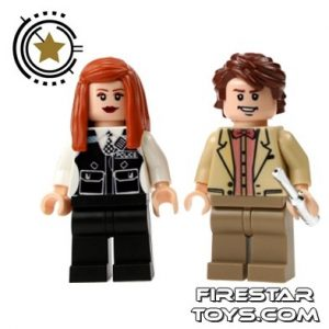 Doctor Who and Amy Pond custom minifig