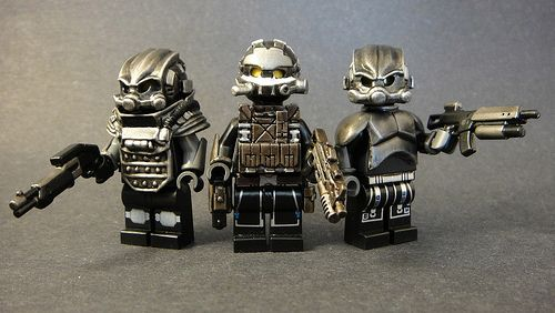 NEW! Silver Brickarms SHOCKTROOPER PISTOL for Mini-figures Star Wars