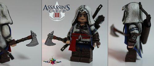 Assassins Creed 3 Connor Kenway Minifigure Custom Lego Minifigures