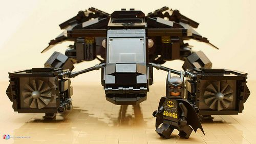 DARK KNIGHT BATWING with Custom BATMAN FIGURE CUSTOM LEGO