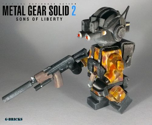 Metal Gear Solid 2 Gurlukovich Soldier Custom Minifigure