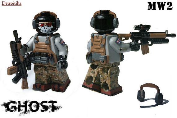 MW2 Ghost Custom Minifigures