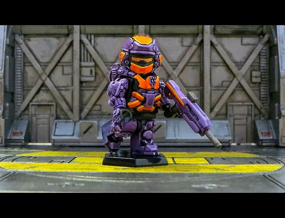 Purple Halo 4 Warrior Custom Minifigure