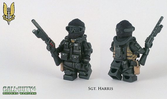 COD4 Modern Warfare SGT Harris Custom Minifigure