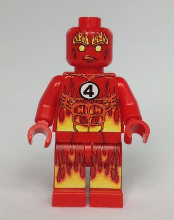 Green Pea Toys Human Torch Custom Minifigure