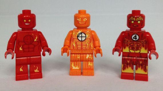 Human Torch Custom Minifigures Review