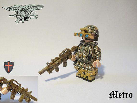 Navy Seal With NVG System Custom Minifigure