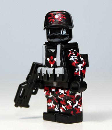 Red Modern Mercenary Custom Minifigure