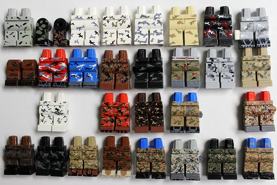 LEGO Painted Camouflage Legs