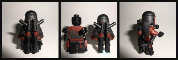 The Darker Path Custom Minifigure Back