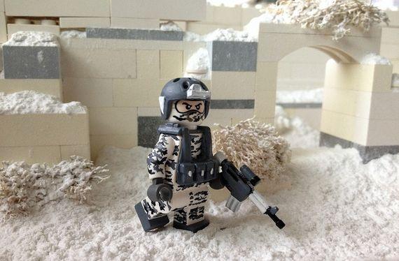 Arctic Camouflage Custom Minifigure