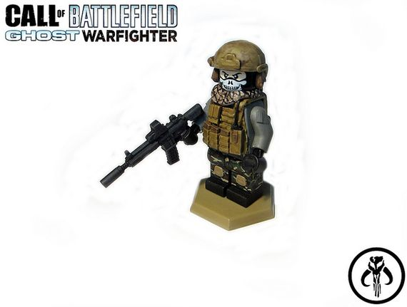 Call of Battlefield Ghost Warfighter Custom Minifigure