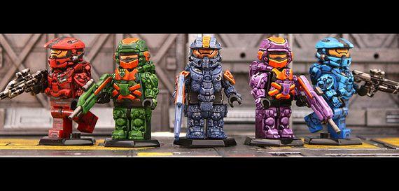Spartan Fireteam Custom Minifigures