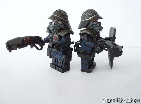 Future City Police Custom Minifigures