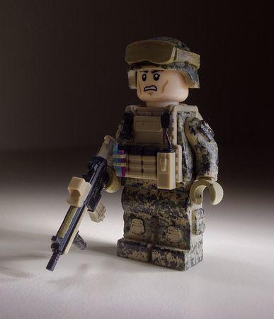 Marine Marpat Camouflage Custom Minifigure