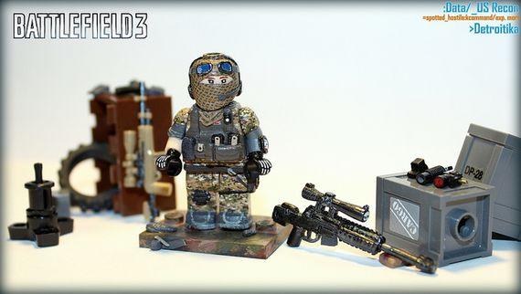Battlefield 3 US Recon Custom Minifigure