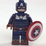 Dragon Brick Captain America Black Suit Custom Minifigure
