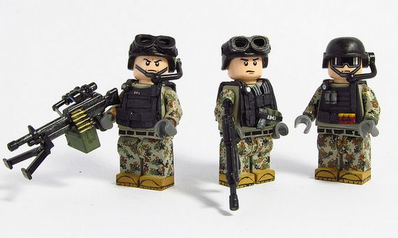 Peoples Liberation Army Standards Custom Minifigures