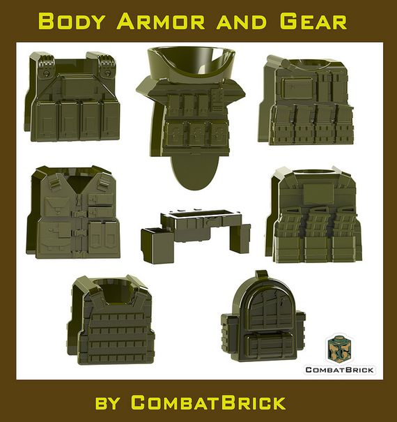 CombatBrick Body Armor and Gear in Military Green