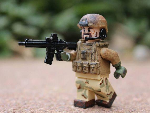 Desert Military Combat Custom Minifigure