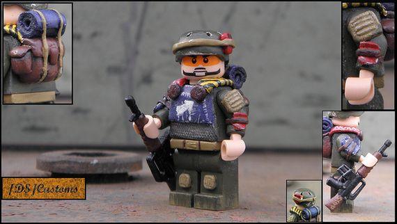 Post-Apoc Mercenary Custom Minifigure
