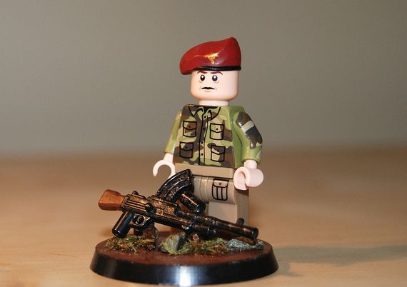 British Paratrooper Officer Custom Minifigure